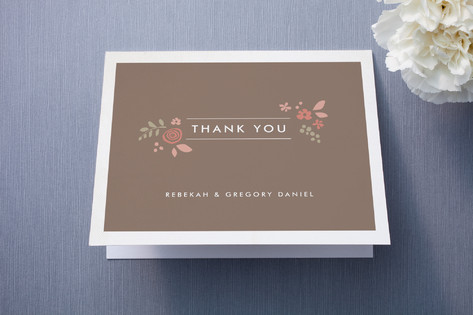 Pink Blossoms Thank You Cards