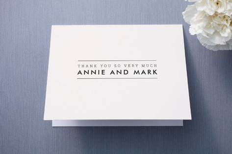 The Square Types Thank You Cards