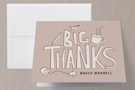 Big Workplace Thanks Thank You Cards