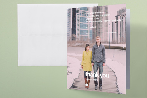 simple photo thank you card