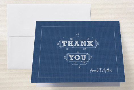 Blueprint Thank You Cards