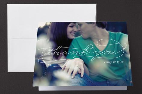 romantic photo thank you card