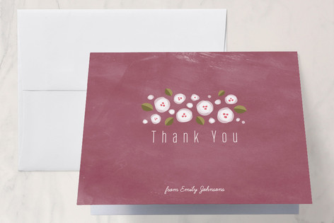 Plum Flowers Thank You Cards