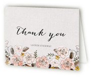 Garden Rose Thank You Cards