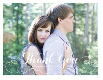 Cursive Line Thank You Cards