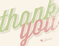 Scripted Thank You Cards