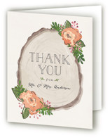 Rustic Wooded Romance Thank You Cards