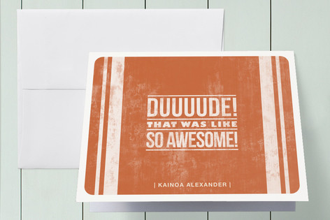 Duuude! Thank You Cards