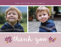 Simple Greetings Thank You Cards