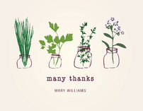 Thank You Herbs Thank You Cards