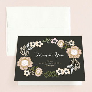 Botanical Wreath Thank You Cards
