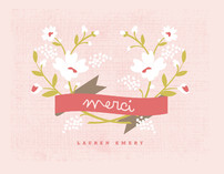 Merci Banner Thank You Cards