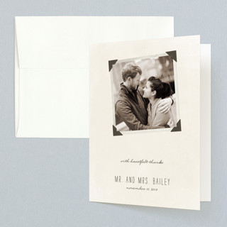 Moment in Time Folded Thank You Card