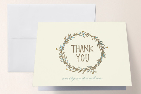 Wreath of Thanks Thank You Cards