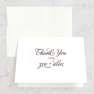 Chocolate Matrimony Thank You Cards