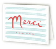 French Stripes Thank You Cards