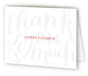 Chic Grafitti Thank You Cards
