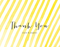Stripey Thank You Cards