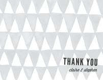 Triangular Thank You Cards