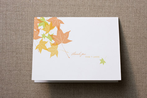 Autumn Leaves Thank You Cards