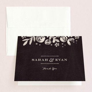 Sun Bleached Florals Folded Thank You Card