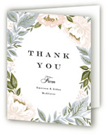 Peony Floral Frame Thank You Cards