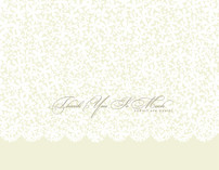 Plumeria Lace Thank You Cards