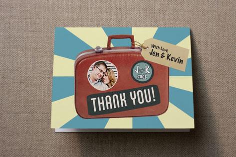 Souvenir Suitcase Thank You Cards