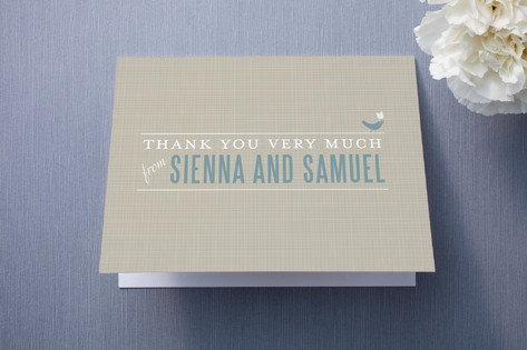 SWEET LINEN Thank You Cards