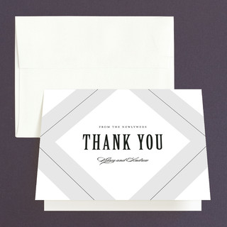 Pinstripe Thank You Cards