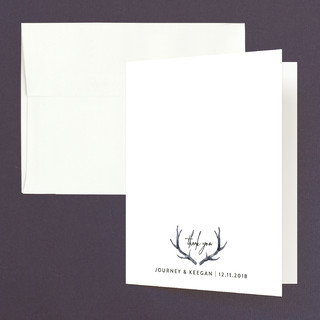 Winter Deer Thank You Cards