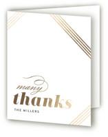 Modern Strands Foil-Pressed Thank You Cards