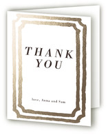 Watercolor Frame Foil-Pressed Thank You Cards