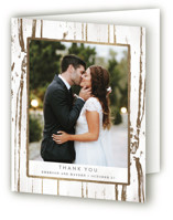 Gilded Woodgrain Foil-Pressed Thank You Cards