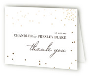 Thrilling Foil-Pressed Thank You Cards