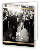 Classic Monogram Foil-Pressed Thank You Cards