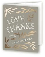 Wonderland Foil-Pressed Thank You Cards