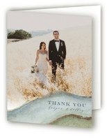 Coastal Lines Foil-Pressed Thank You Cards