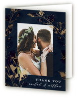 Midnight Vines Foil-Pressed Thank You Cards