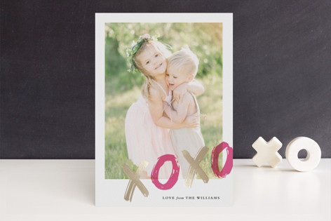 Sealed with a Kiss Foil-Pressed Valentine's Day Cards