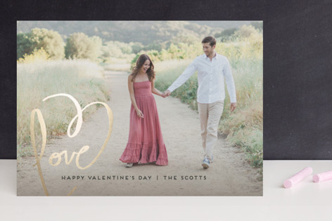 Love + Heart Foil-Pressed Valentine Cards