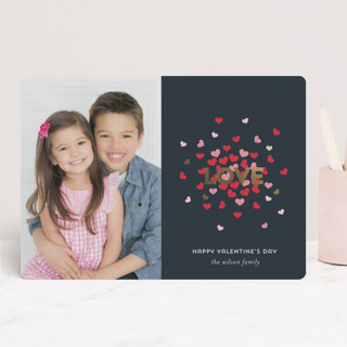Love Burst Foil-Pressed Valentine Cards