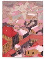 Painted Venice cityscap... by Oana Prints