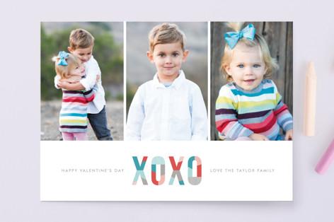 Modern XOXO Valentine's Day Cards