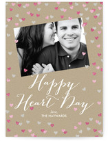 Glittering Heart Confetti Valentine&#039;s Day Cards