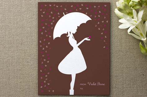 Marabous girly Brolly Valentines Day Card