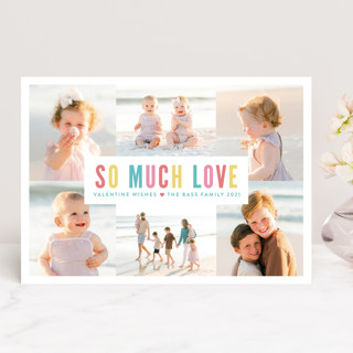 So Much Love Collage Valentine's Day Cards