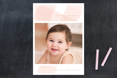 Gingham Wash Valentine's Day Cards