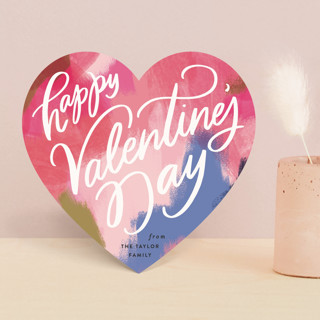 Abstract Art Heart Valentine's Day Cards
