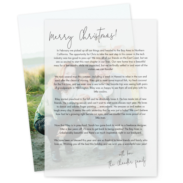 Annual Letter by Minted